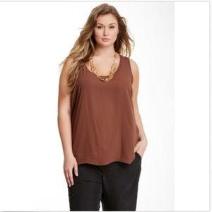 Pleione Women's Tank Top Plus Size 3X Sleeveless